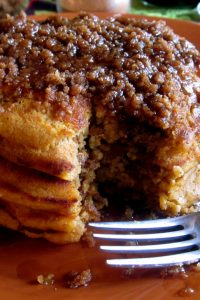 Pumpkin Cinnamon Streusel Pancakes from The Food Charlatan