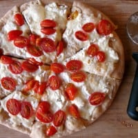 Cherry Tomato and Goat Cheese Pizza