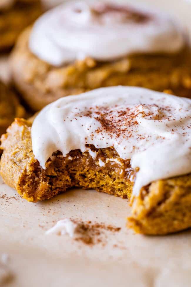 Soft Pumpkin Cookies with Brown Sugar Icing