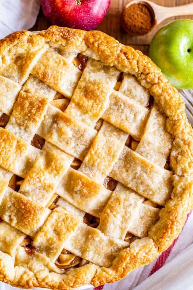 apple pie recipe with a lattice crust