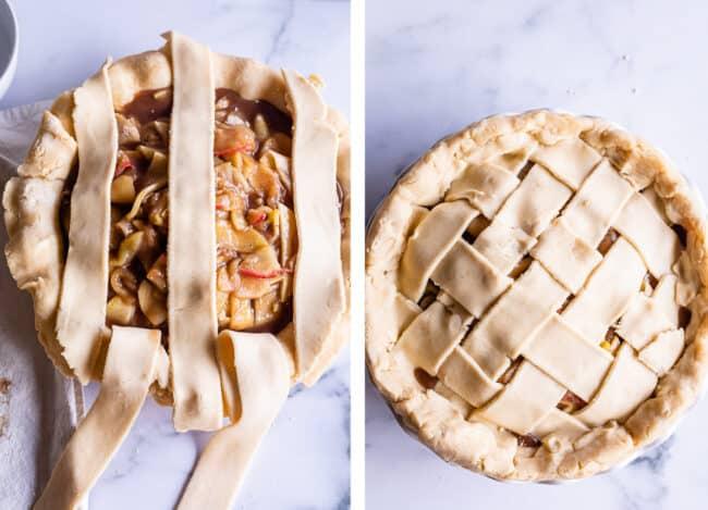 making a lattice weave on a pie