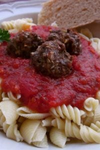 Spaghetti and Meatballs from The Food Charlatan