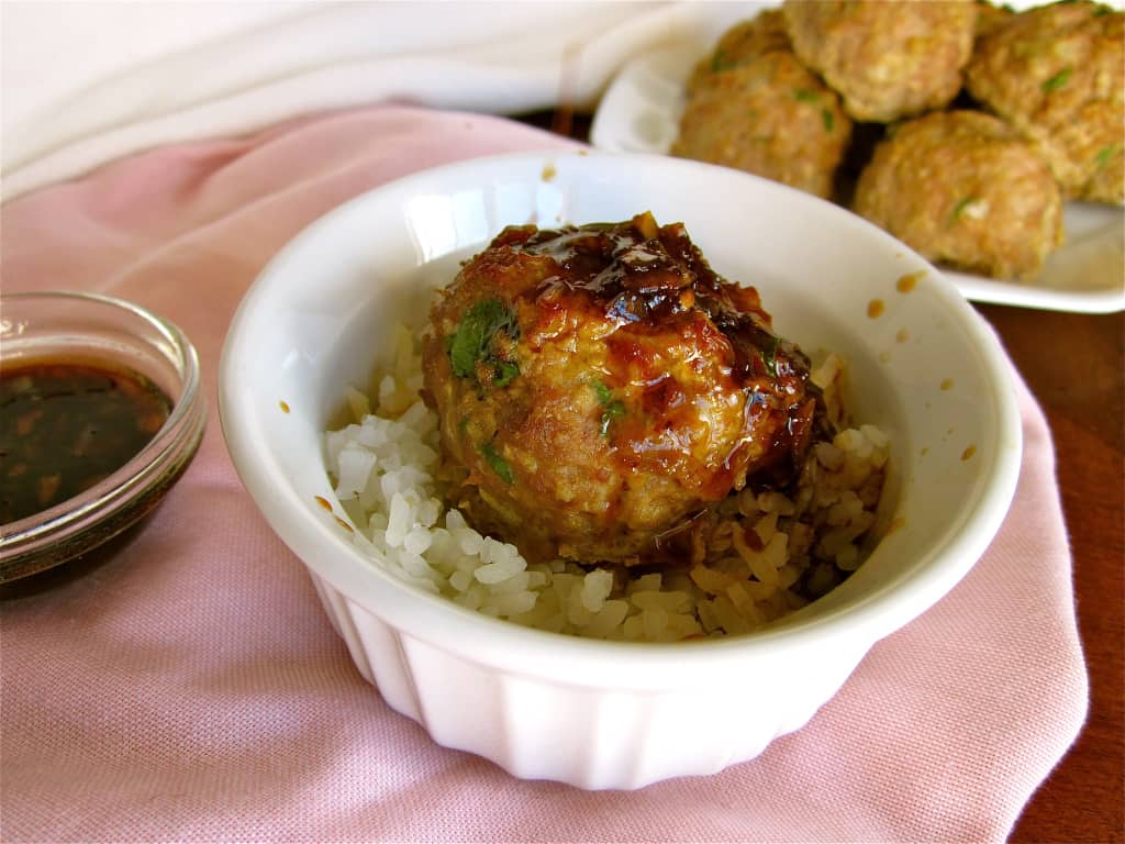 Asian Turkey Meatballs With A Lime Sesame Dipping Sauce ...