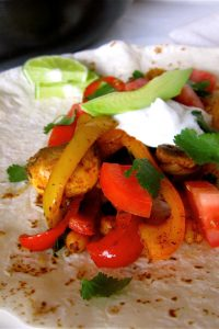 Roasted Chickpea Fajitas from The Food Charlatan