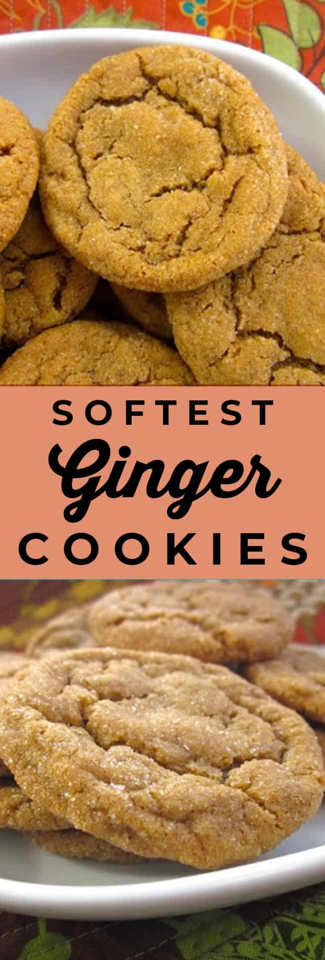 soft ginger cookies recipe