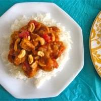 Indian Ginger Chicken (or Coconut Cashew Chicken with Golden Raisins)