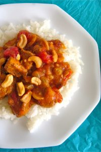 Indian Ginger Chicken (or Coconut Cashew Chicken with Golden Raisins) from TheFoodCharlatan.com