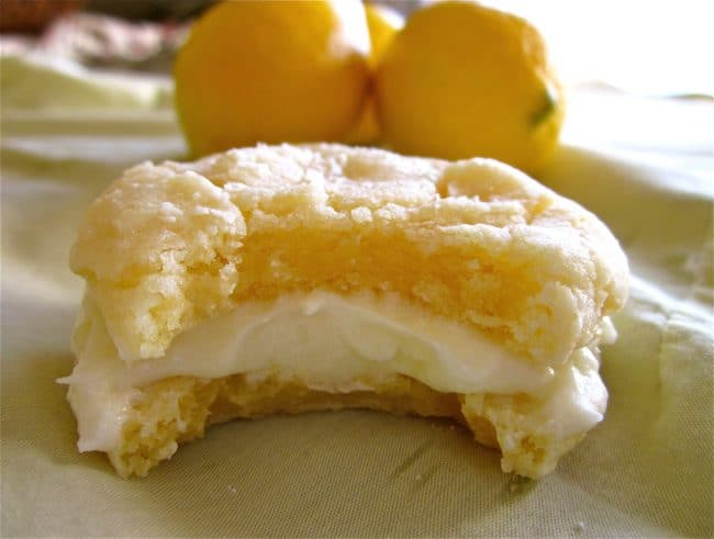 Lemon Crinkle Cookies with Lemon Frosting from TheFoodCharlatan.com