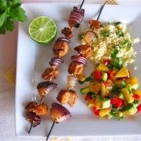 Chicken Kebabs with Nectarine Salsa