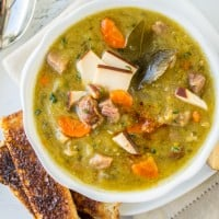 Split Pea Soup with Smoked Gouda (Slow Cooker)