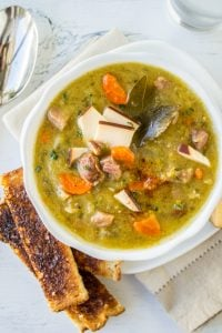 Split Pea Soup with Smoked Gouda (Slow Cooker) from The Food Charlatan