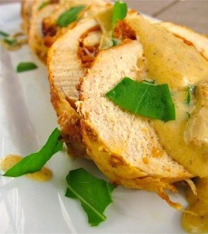 Chicken Cordon Bleu in Creamy Wine Sauce from TheFoodCharlatan.com