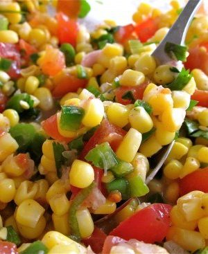 Corn Salsa with Lime from TheFoodCharlatan.com