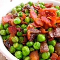 Peas with Bacon and Caramelized Onions