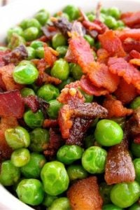 Peas with Bacon and Caramelized Onions from TheFoodCharlatan.com