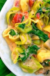 Spinach Mushroom Tortellini from The Food Charlatan