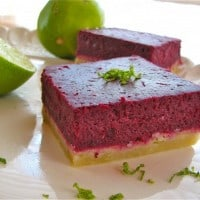 Blackberry Lime Bars