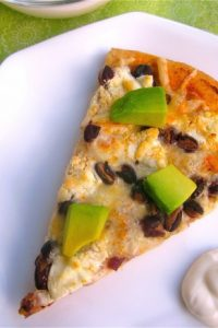 Chipotle Black Bean Pizza with Goat Cheese and Avocados from TheFoodCharlatan.com