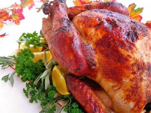 Thanksgiving Recipes and an Apple-Cider Brined Turkey with Savory Herb Gravy from The Food Charlatan