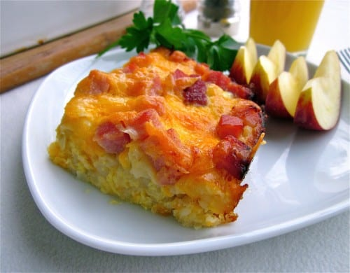 Easy Breakfast Casserole with Potatoes and Ham from TheFoodCharlatan.com