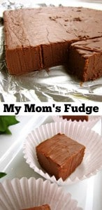 My Mom's Fudge from The Food Charlatan