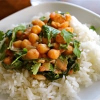 Chickpea Curry with Jasmine Rice (Vegetarian)