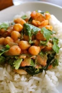 Chickpea Curry with Jasmine Rice (Vegetarian) from TheFoodCharlatan.com