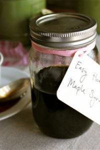 Easy Homemade Maple Syrup from TheFoodCharlatan.com