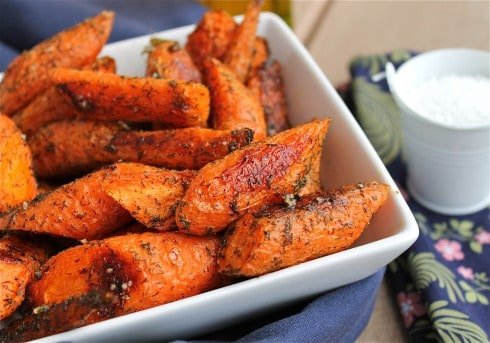 Roasted Carrots with Dill from The Food Charlatan