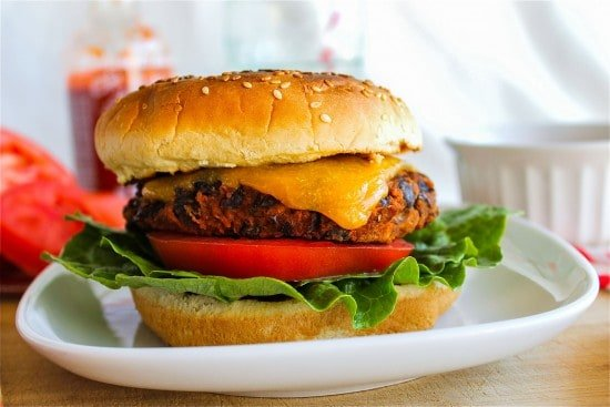 Black Bean Burgers with Sriracha Mayonnaise