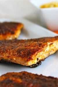 Moroccan Spiced Salmon with Sriracha Yogurt Sauce from TheFoodCharlatan.com