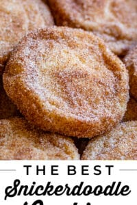 the beset snickerdoodle recipe on a pan