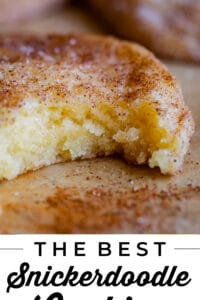 a bite taken out of the best snickerdoodle recipe