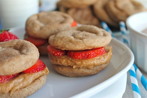 Snickerdoodle Biscoff Sandwich Cookies - The Food Charlatan