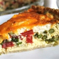 Asparagus, Tomato, and Goat Cheese Quiche