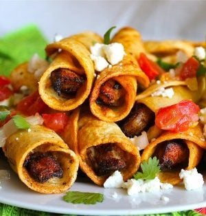 Chicken Flautas (Taquitos) from TheFoodCharlatan.com