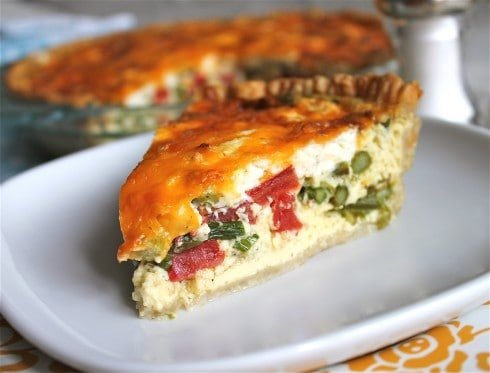 Asparagus, Tomato, and Goat Cheese Quiche - The Food Charlatan