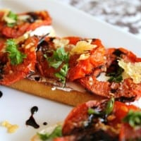Roasted Tomato and Goat Cheese Sandwiches