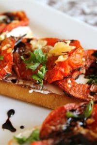 Roasted Tomato and Goat Cheese Sandwiches from The Food Charlatan