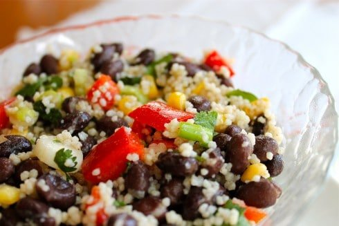 Black Bean & Couscous Salad from TheFoodCharlatan.com