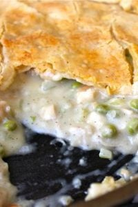 One-Skillet Chicken Pot Pie from TheFoodCharlatan.com