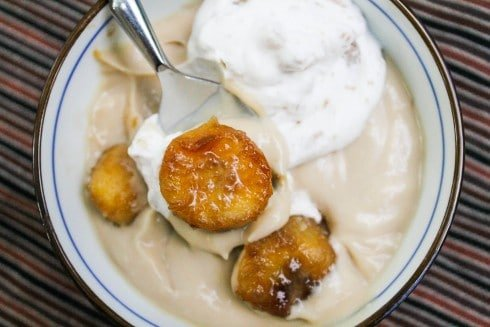 Butterscotch Pudding with Roasted Banana Whipped Cream from ...