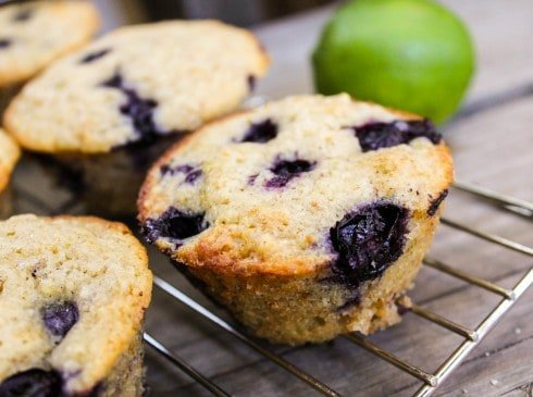 Blueberry Lime Oatmeal Muffins - The Food Charlatan