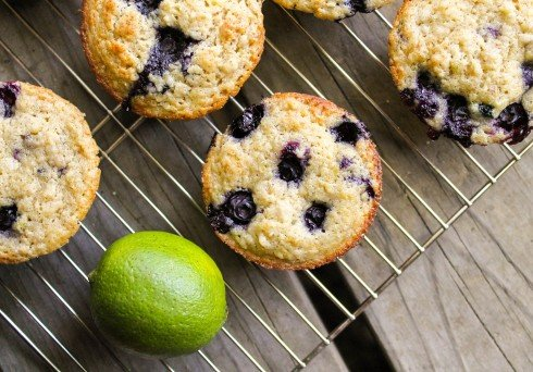 Blueberry Lime Oatmeal Muffins: