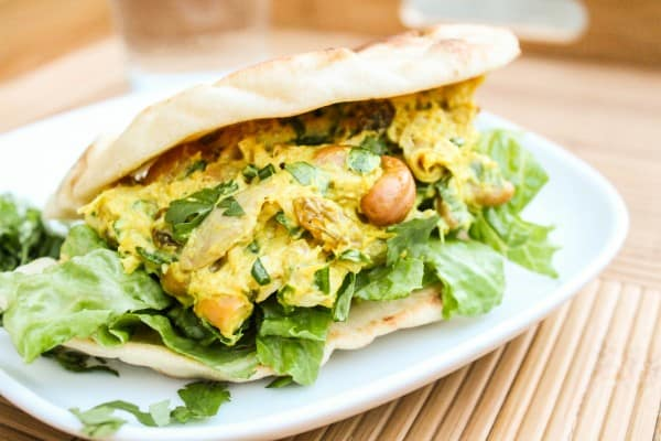 Curried Chicken Salad Sandwiches with Naan from TheFoodCharlatan.com