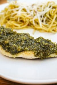 Pistachio Pesto Chicken from TheFoodCharlatan.com