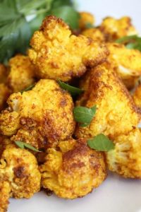 Roasted Curry Cauliflower from The Food Charlatan