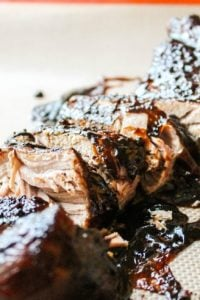 Brown Sugar Balsamic Pork Tenderloin from TheFoodCharlatan.com
