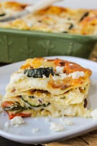 Poblano, Corn, and Zucchini Lasagna from TheFoodCharlatan.com