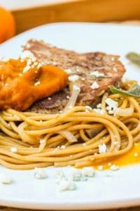 Sage-Fried Pork and Pumpkin Noodle Bowls from The Food Charlatan